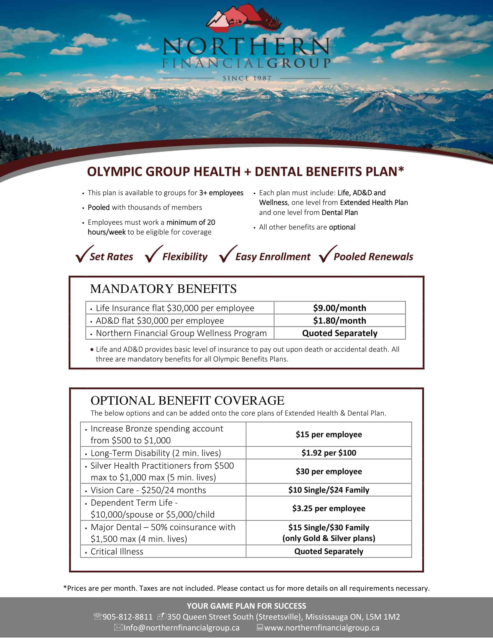 Plan Design - Brochure 2019 - Group Benefits Outline - Company Benefits - Health Benefits for Business